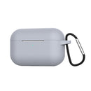 Silicone Case for Airpods Pro with Hook Gray