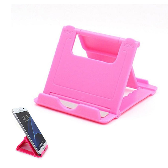 Phone Holder Stand Mini Adjustable and Foldable Pink