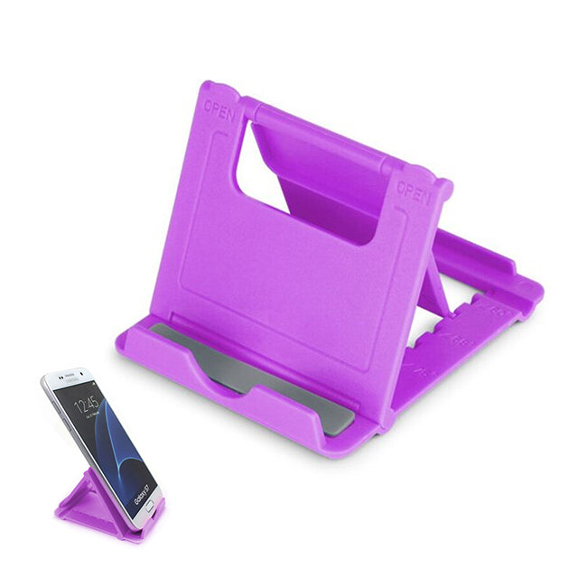 Phone Holder Stand Mini Adjustable and Foldable Magenta