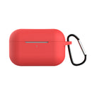 Silicone Case for Airpods Pro with Hook Red
