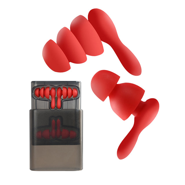 Earplug 2 Pairs Hearing Protection Red