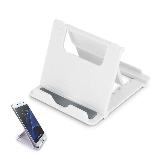 Phone Holder Stand Mini Adjustable and Foldable White