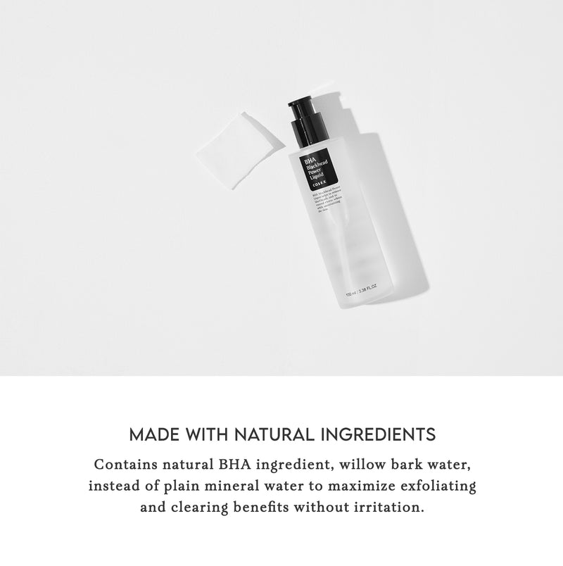 COSRX BHA Blackhead Power Liquid Natural Ingredients