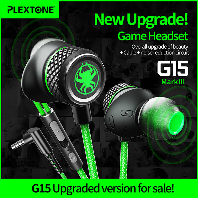 Plextone G15 Earphone with Microphone Upgraded Version