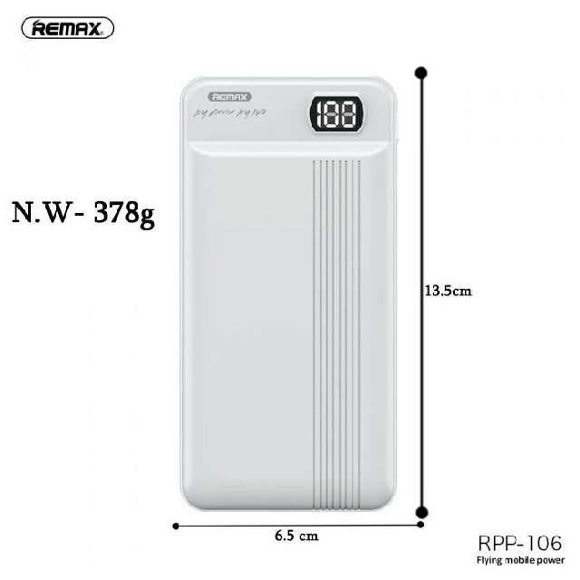 Remax Powerbank RPP-106 20000mAh With LED Display Size