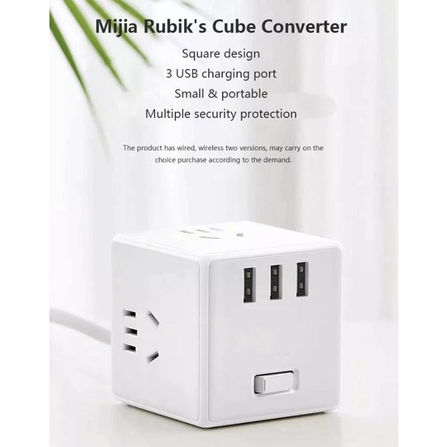 Xiaomi Mijia Rubik's Cube Converter Power Strip in Wired and Wireless Version