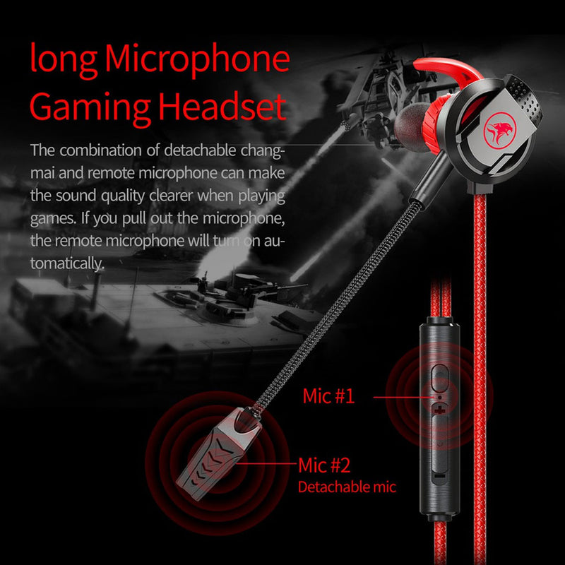 xMowi RX3 In-Ear Gaming Headset Dual Microphone