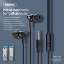 Remax Earphone With Microphone RW-106 Specs