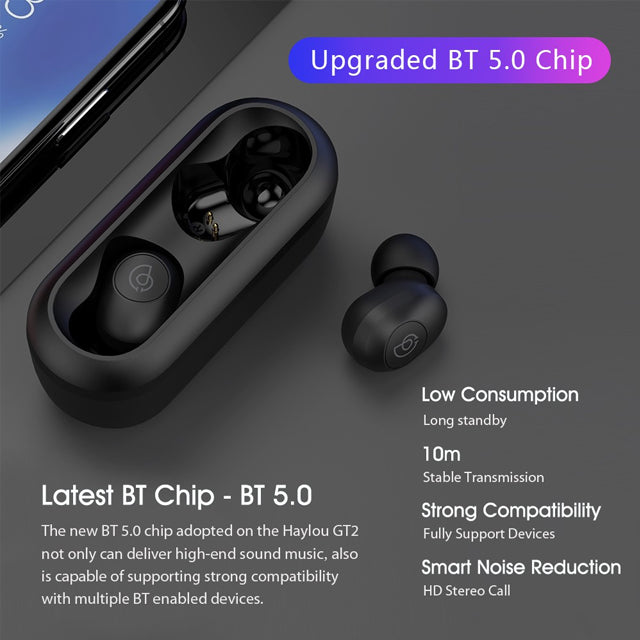 Haylou GT2 TWS Earphones with Physical Button Control IPX5 Bluetooth V5.0