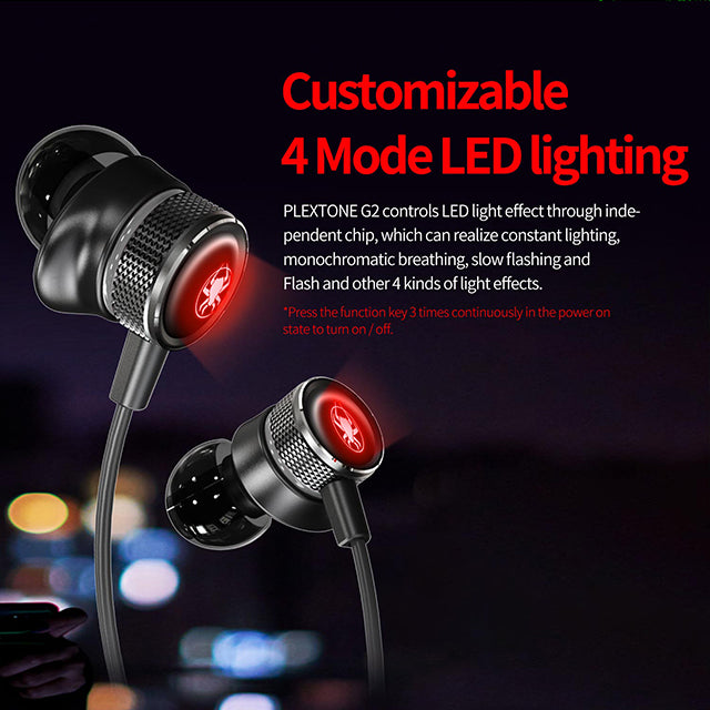 Plextone G2 Earphone Wireless Bluetooth 5.0 Gaming 4 Mode LED
