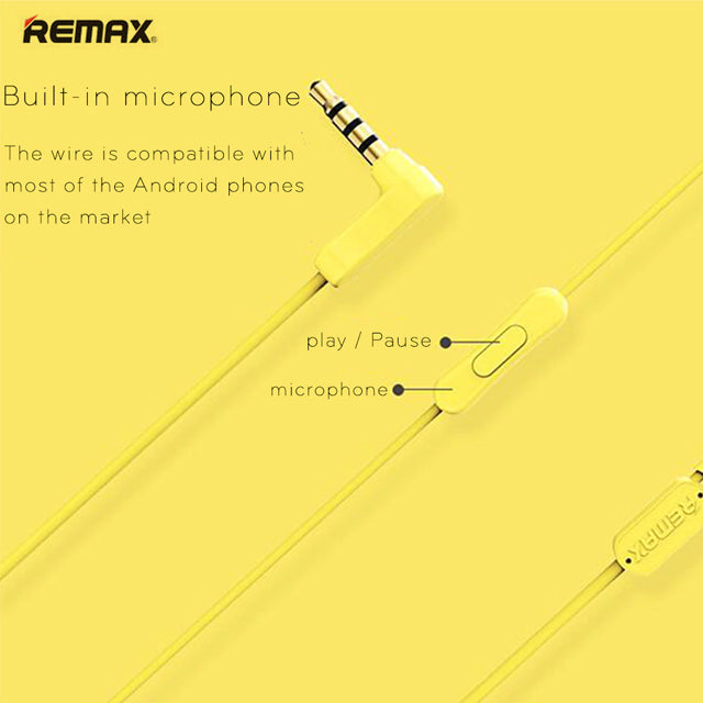 Remax Earphone RM-502 with HD Microphone