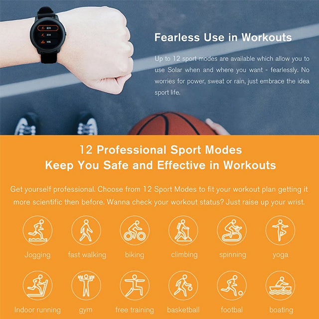 Haylou Smartwatch LS05 Global Version Solar Fitness Tracker 12 Sports Mode
