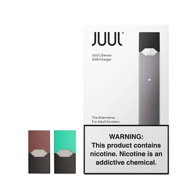 JUUL Starter Kit Vape Electronic Cigarette 5.0% Nicotine Strength 2 Juul Pods Alternative for Adult Smokers