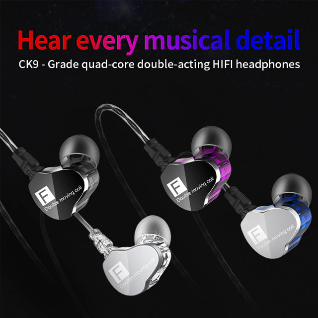 QKZ CK9 Earphones Dual Moving Coil Earbuds