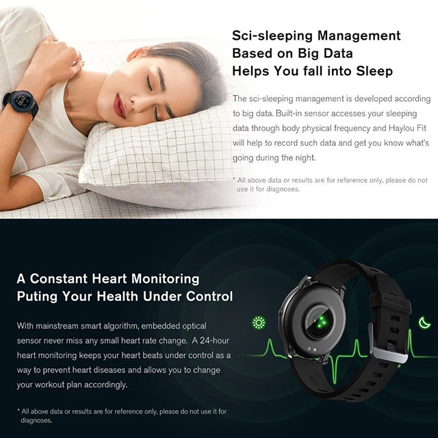 Haylou Smartwatch LS05 Global Version Sci-sleeping