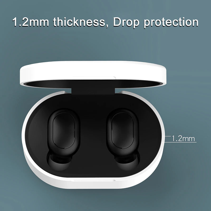 Silicone Cover Case for Xiaomi Redmi Airdots and Airdots S  Size