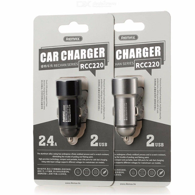 Remax Dual USB Port 2.4A Car Charger RCC220