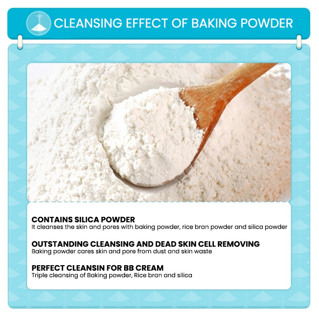 Etude House Baking Powder BB Deep Cleansing Foam Effect