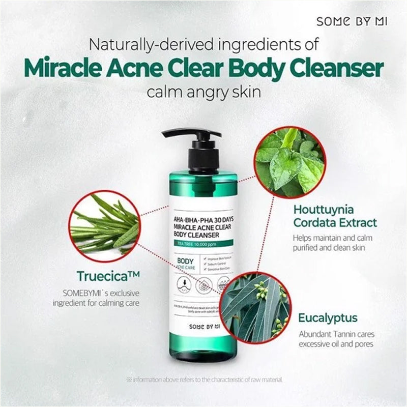 SOME BY MI Miracle Acne Clear Body Cleanser AHA BHA PHA Ingredients