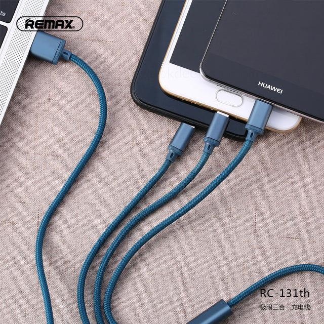Remax Fast Charger 3 in 1 Charging Cable RC-131th