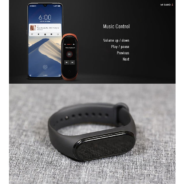 Mi Band 4 XIaomi Smartwatch AMOLED Touch Screen Music Control