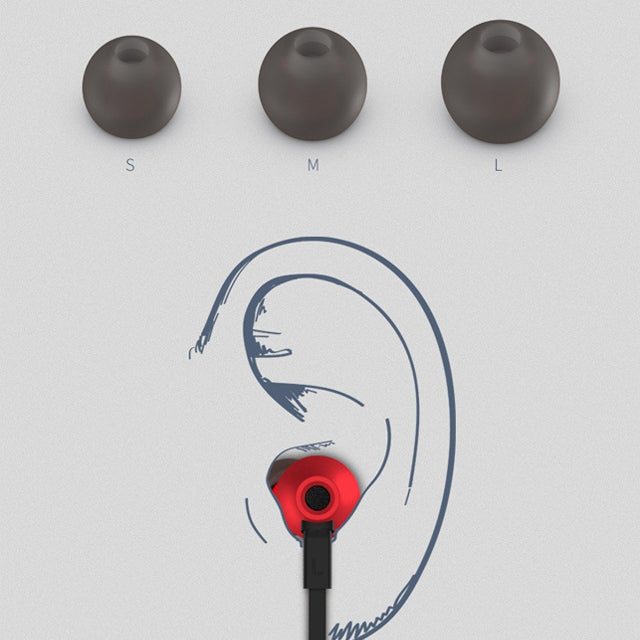Remax Earphone RM-610D Hifi Sound with Microphone Sizes