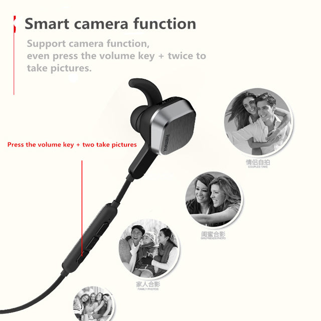 Remax 4.1 Magnetic Sports Bluetooth Earphone RB-S2