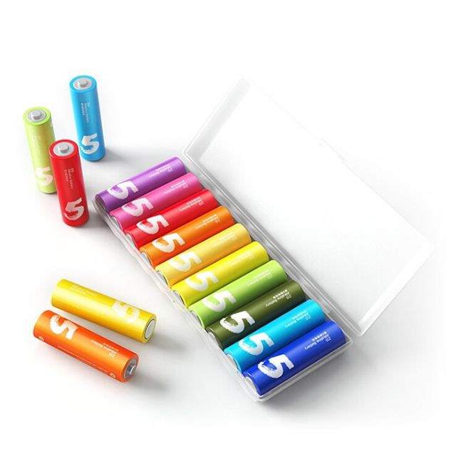 Xiaomi Rainbow Alkaline 1.5V Battery AA ZI5 AAA ZI7 10-PC Set