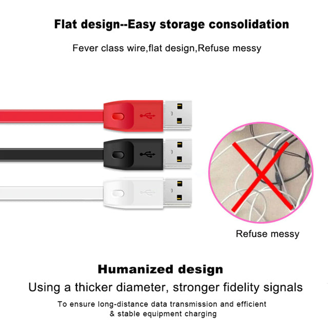 Remax Cable RC-001 Micro USB Data Cable Flat Design