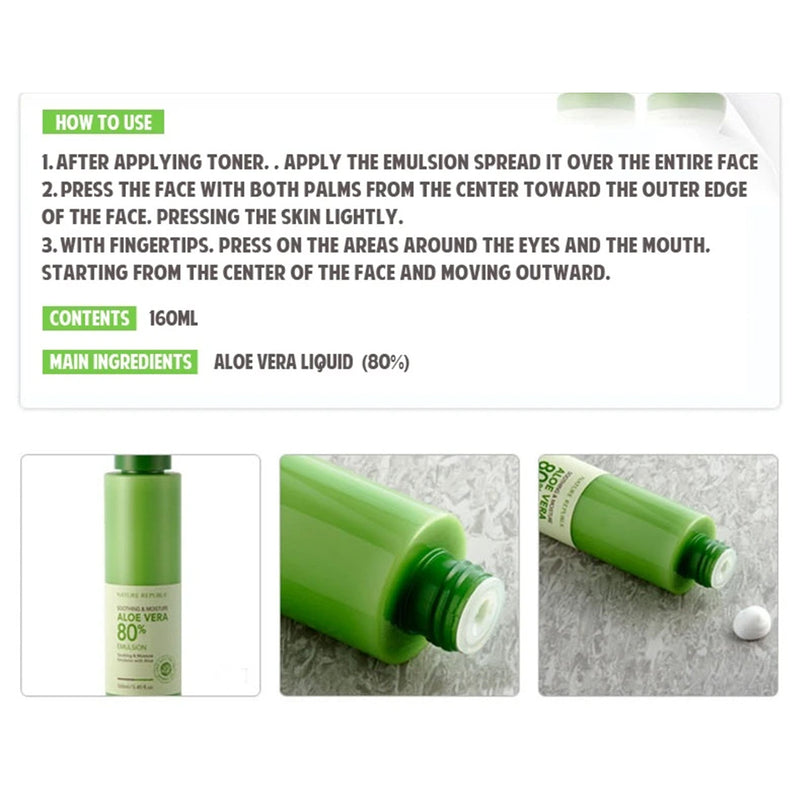Nature Republic Aloe Vera Soothing & Moisturizer How to Use