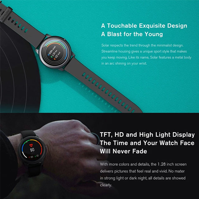 Haylou Smartwatch LS05 Global Version Solar Fitness Tracker HD