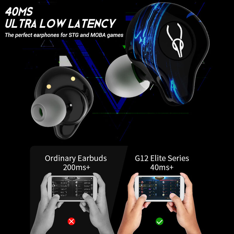 Sabbat G12 Elite Gaming Series TWS In-Ear True Wireless Earphones with Freebies