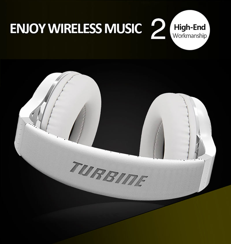 Bluedio Headphone T2 Plus Bluetooth Version 4.1 White