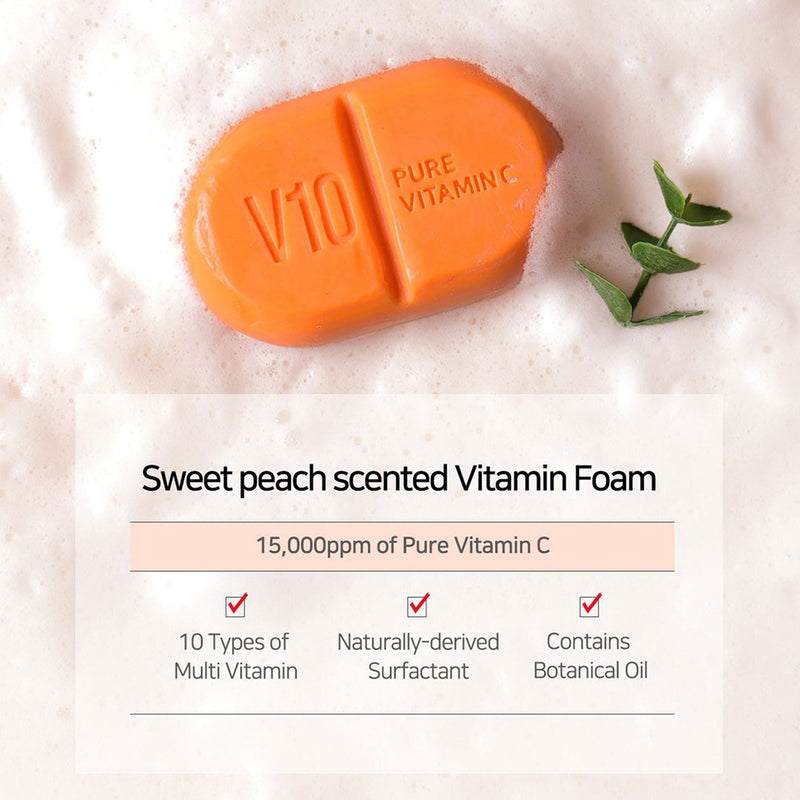 SOME BY MI V10 Pure Vitamin C Multi Vita Cleansing Bar Soap