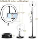 Ring light Portable With 3 Modes Base Stand Size