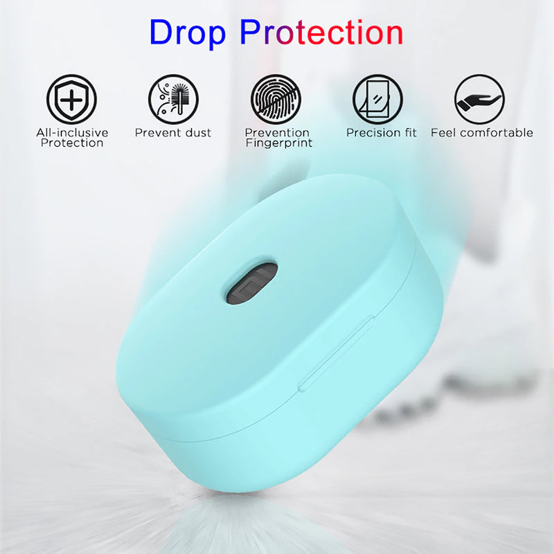 Silicone Cover Case for Xiaomi Redmi Airdots and Airdots S Drop Protection