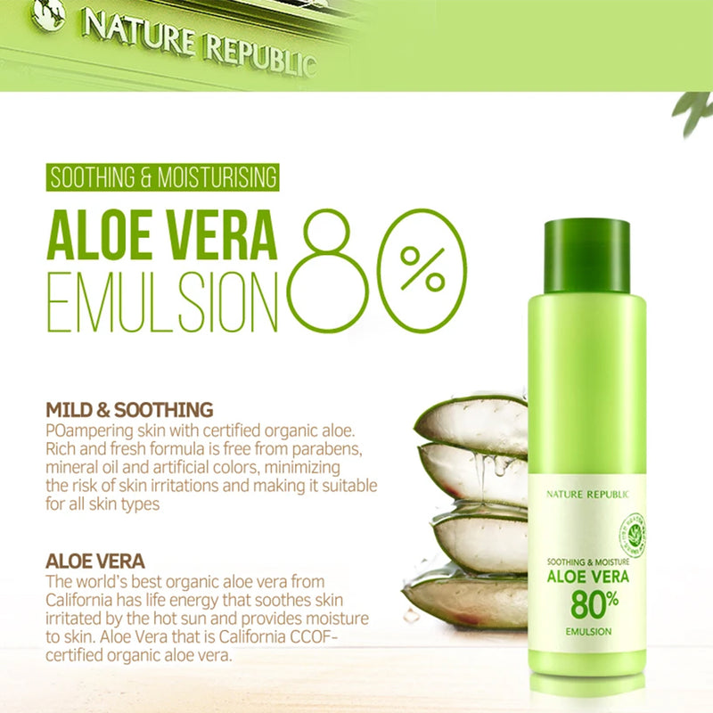 Nature Republic Soothing & Moisturize Aloe Vera 80% Emulsion