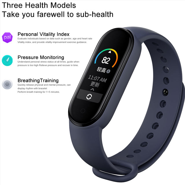 Xiaomi Mi Band 5 Fitness Tracker 5ATM Bluetooth V5.0 Health Modes