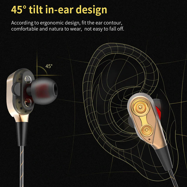 QKZ Earphone CK8 Tilt In-Ear