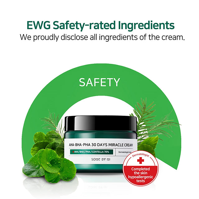 SOME BY MI Miracle Cream 30 Days EWG Safety