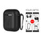 Airpods Silicone Case for Apple Airpods 5PC Set Black