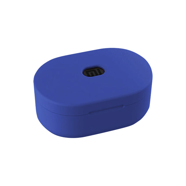 Silicone Cover Case for Xiaomi Redmi Airdots and Airdots S  Blue