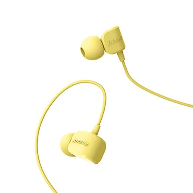 Remax Earphone RM-502 Crazy Robot with HD Microphone Yellow