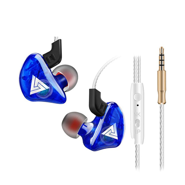 QKZ CK5 Stereo Sport HiFi In-Ear Earphones  Blue