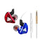 QKZ CK5 Stereo Sport HiFi In-Ear Earphones  Red and Blue