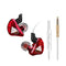 QKZ CK5 Stereo Sport HiFi In-Ear Earphones  Red