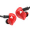 QKZ Earphone VK3 In-Ear Wired With Microphone  Red
