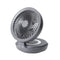 Edon Circular USB Desktop Foldable and Rechargeable Fan with LED Light E808