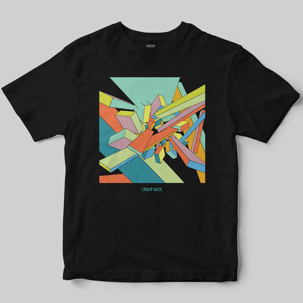 Abstract T-Shirt / Black / by Casey Rolseth