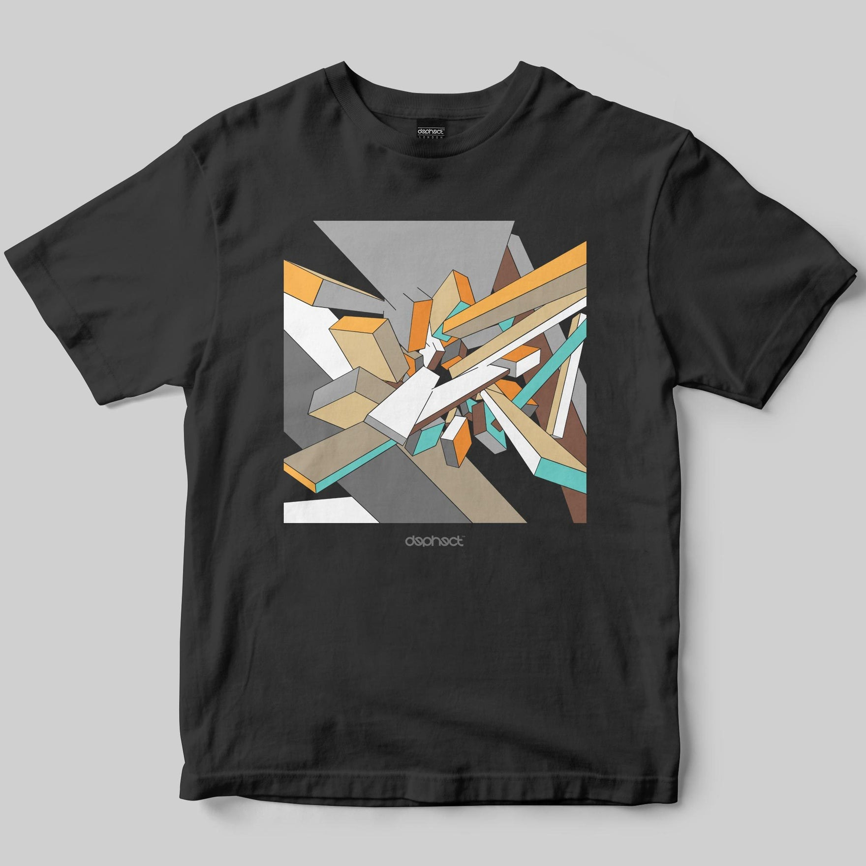 Abstract T-Shirt / Charcoal / by Casey Rolseth